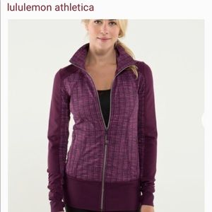 Lululemon Nice Asana Jacket Plum Purple Pink